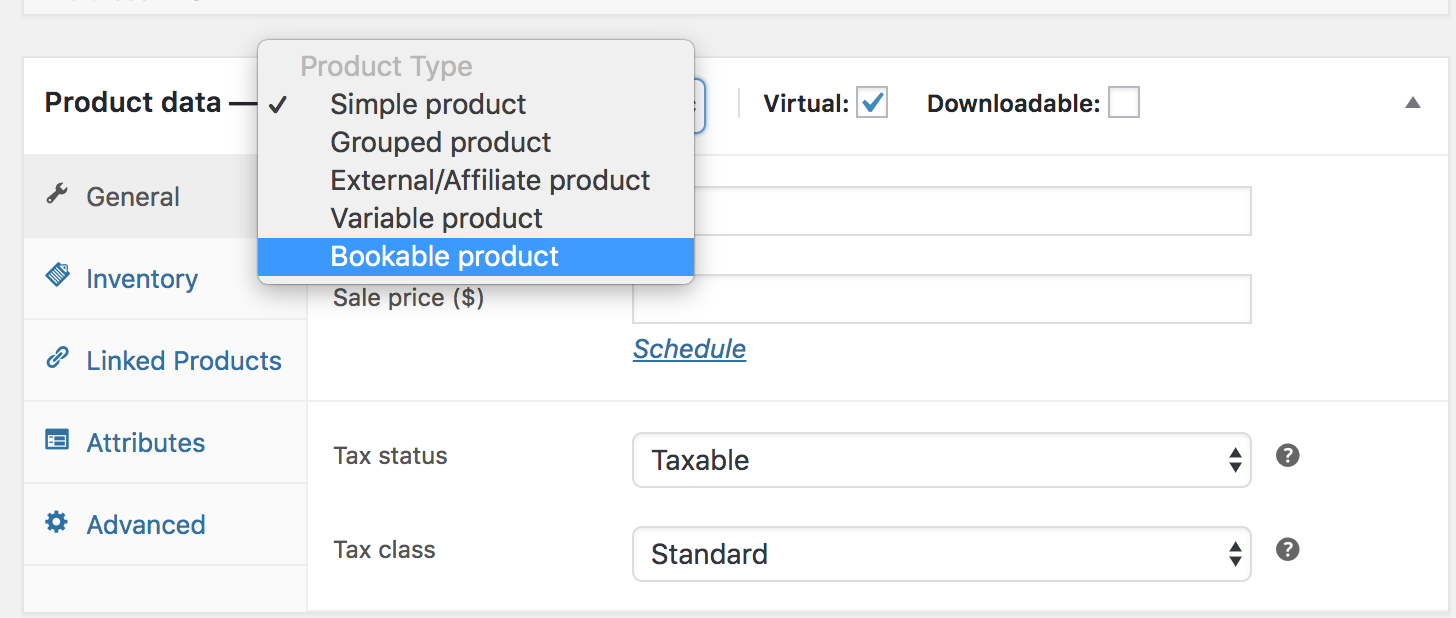 Creating a Bookable Product - WooCommerce Docs