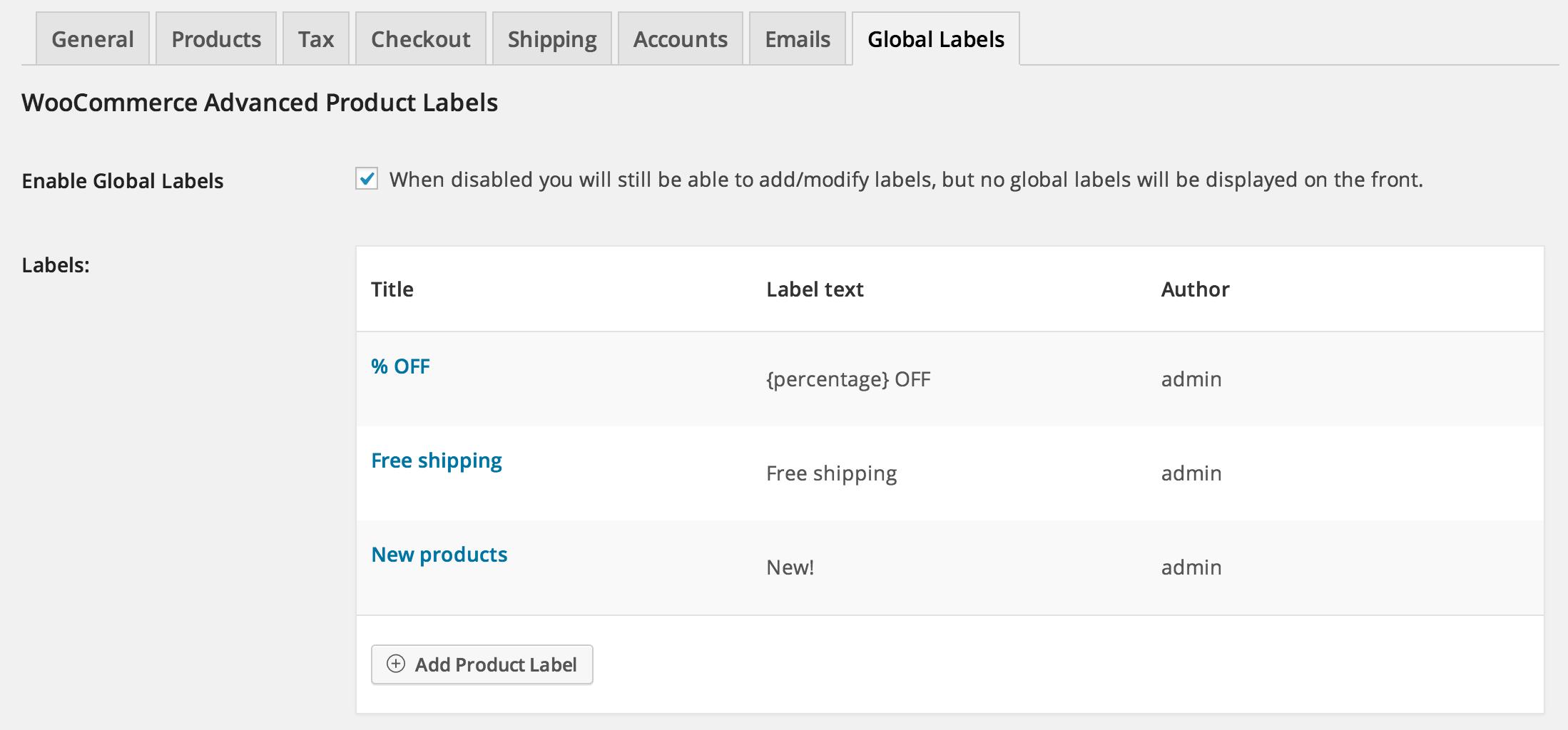 WooCommerce Advanced Product Labels - WooCommerce Docs