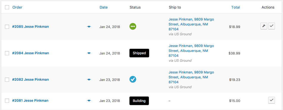 WooCommerce Order Status Manager: Custom Statuses imported