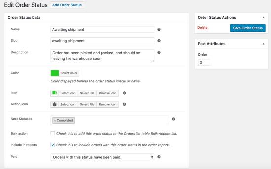 WooCommerce Order Status Manager: New Status