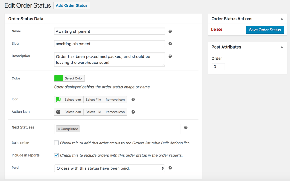 WooCommerce Order Status Manager: Create a Status