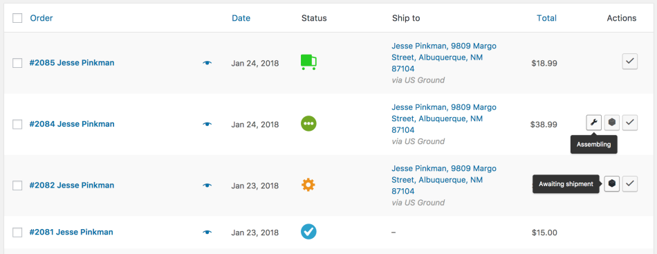 WooCommerce Order Status Manager: Statuses in action