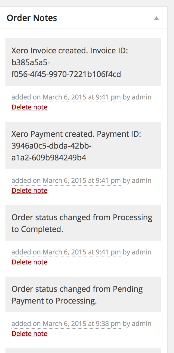 xero - woocommerce docs, Invoice examples