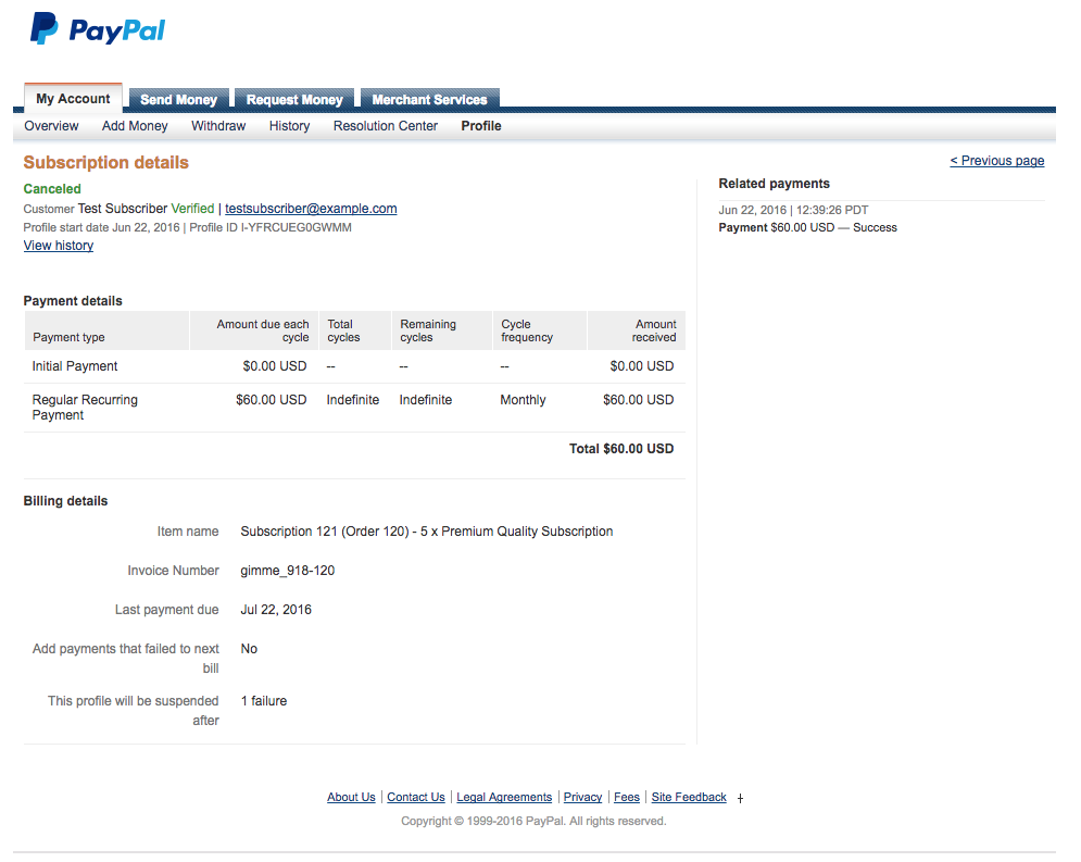 how to stop paypal subscriptions