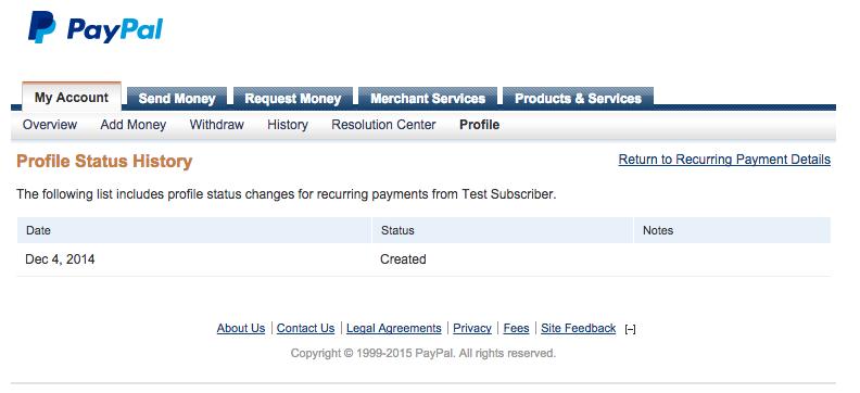 PayPal History