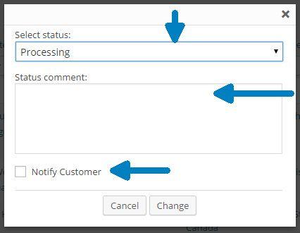 Order Status Change Notifier Pop-Up