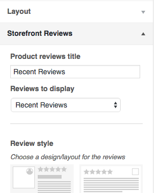 The 'Storefront Reviews' section