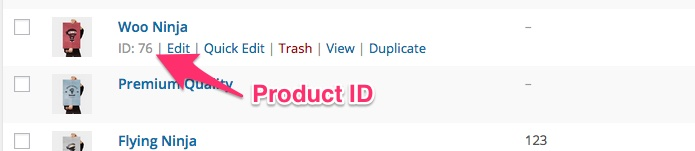 Finding the product ID