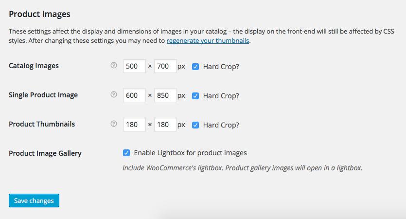 Proshop WooCommerce Image Sizes