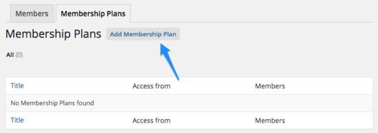 WooCommerce Memberships add plan