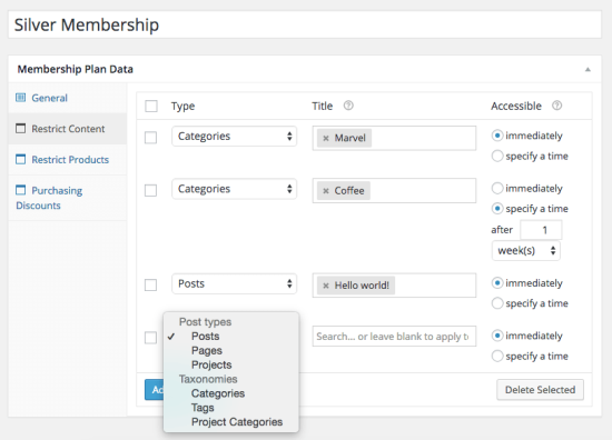 Woocommerce Memberships All Content Older Than 2 Years Make Public