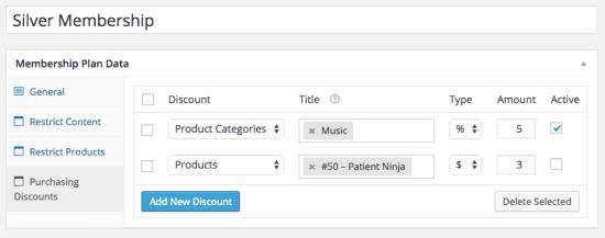WooCommerce Memberships purchasing discounts
