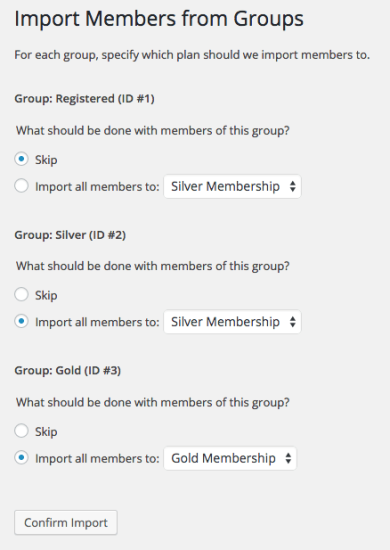 WooCommerce Memberships import groups 2