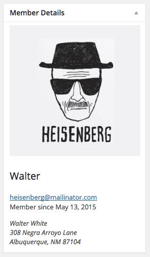 WooCommerce memberships member details