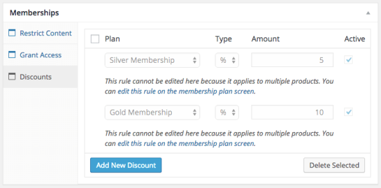 WooCommerce Memberships rules disabled