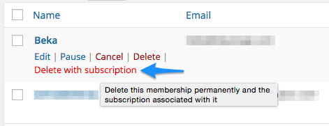 WooCommerce Memberships Delete with Subscription 2
