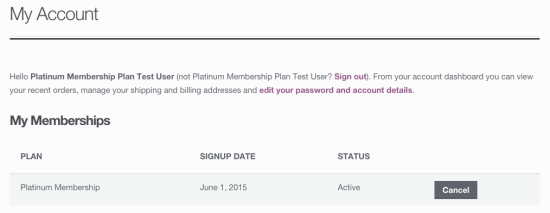 WooCommerce Memberships Test Member