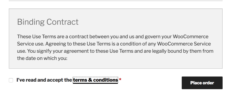 By ticking the box terms and conditions