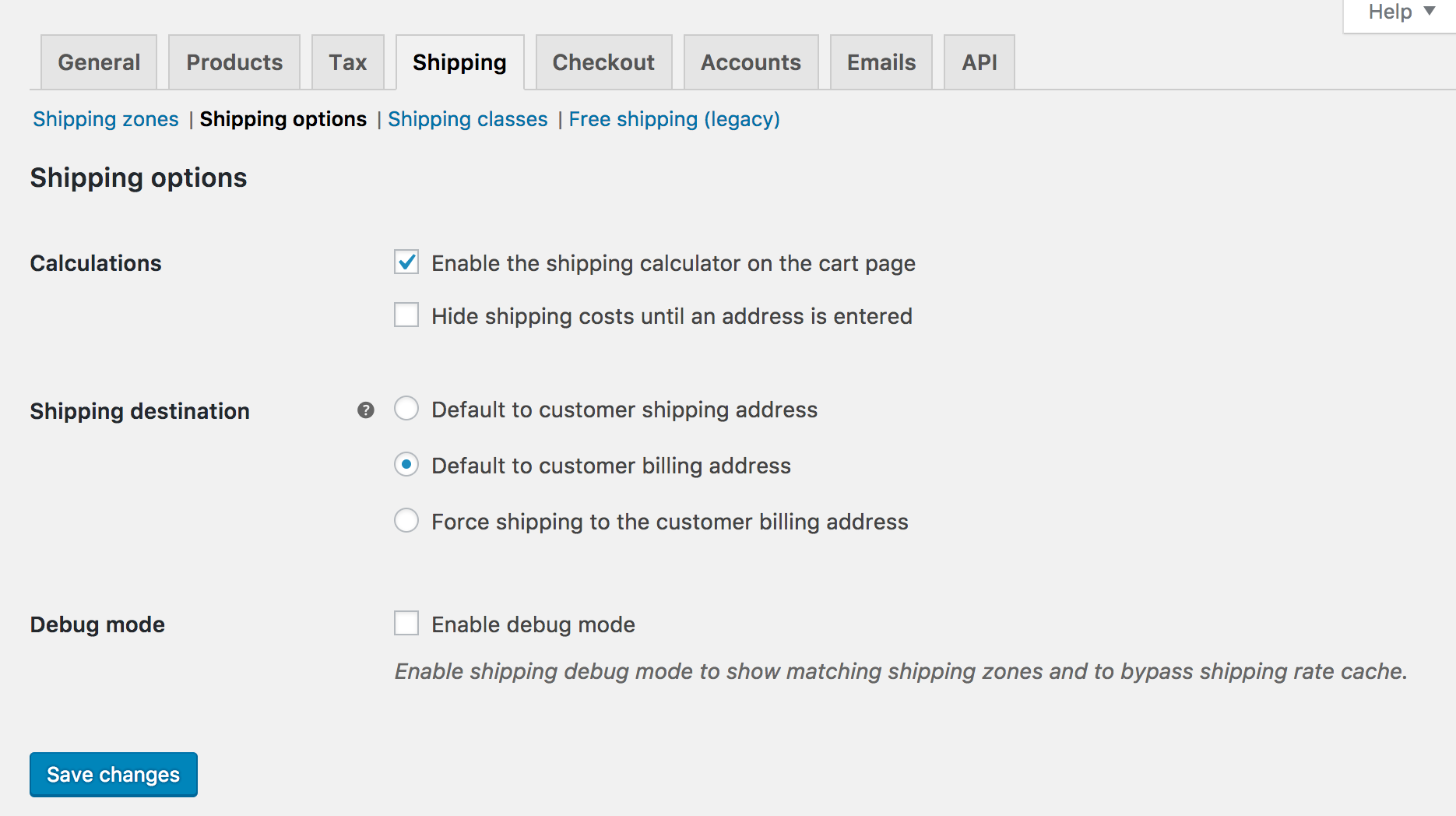Shop customer account create/downloader - Shipping Options Back To Top
