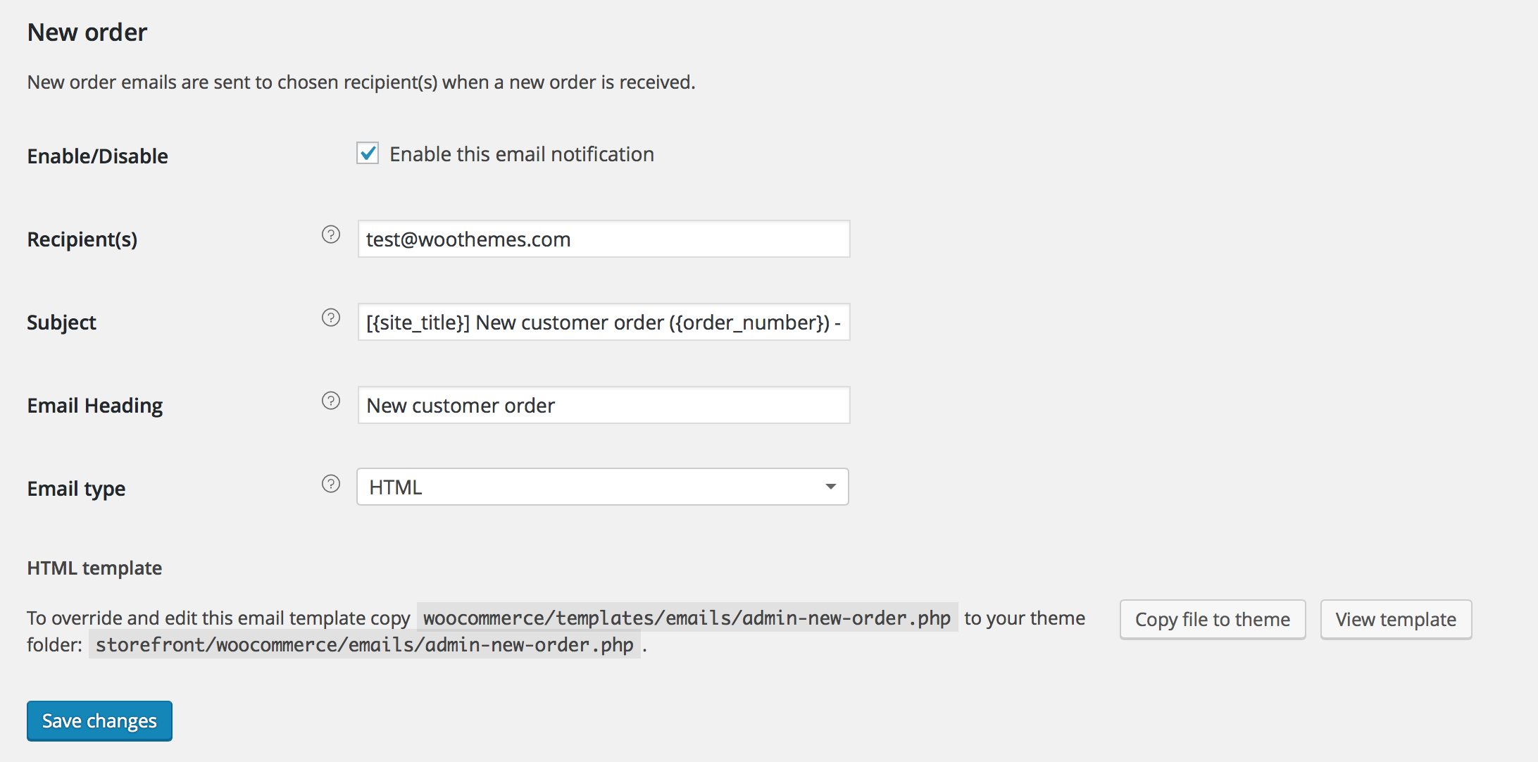Shop customer account create/downloader - Woocommerce Email Options