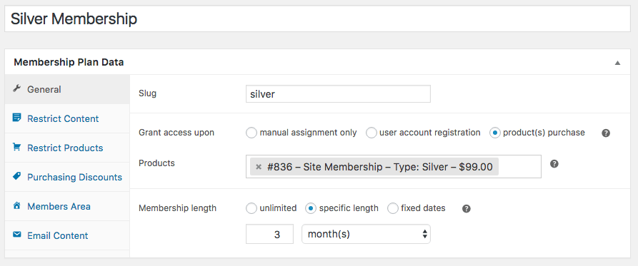 WooCommerce Memberships: Set access length