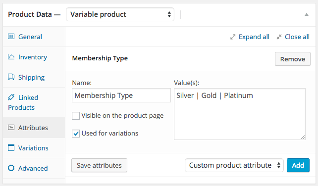 WooCommerce memberships variable product