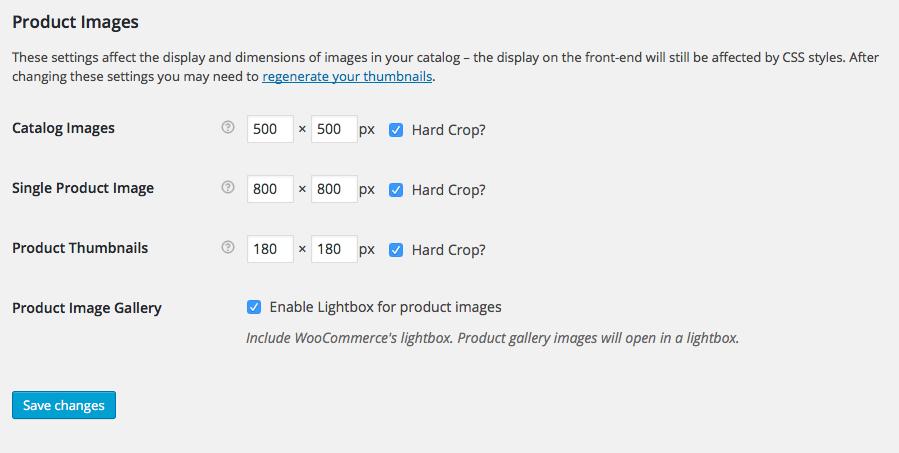 Outlet WooCommerce Image Sizes
