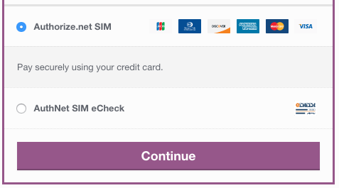 WooCommerce Authorize.Net SIM credit card form