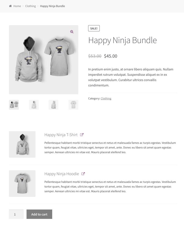 The Happy Ninja bundle.