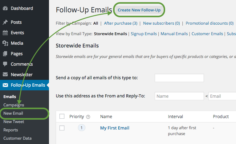 How to create a Follow-up Email for Pending Orders