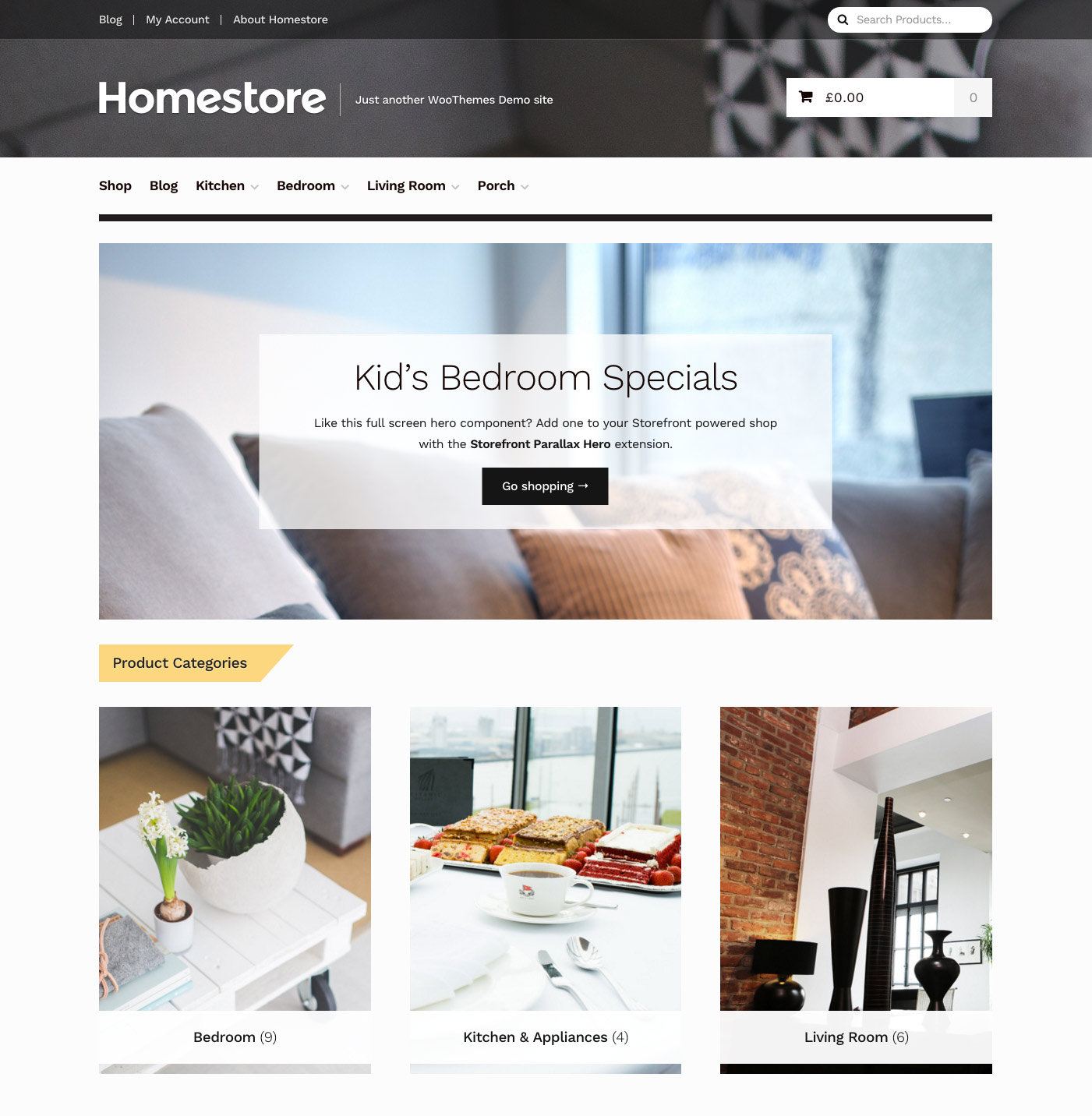 Homestore Storefront Child Theme Woocommerce Docs