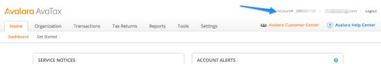 WooCommerce AvaTax account number