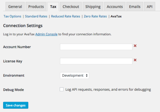 WooCommerce AvaTax: Initial Settings