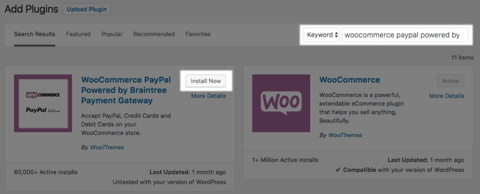 WooCommerce PayPal Powered by Braintree installation