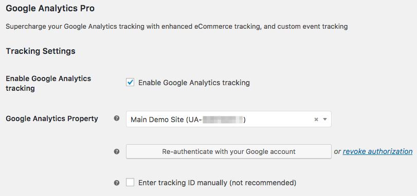 WooCommerce Google Analytics Pro - WooCommerce Docs