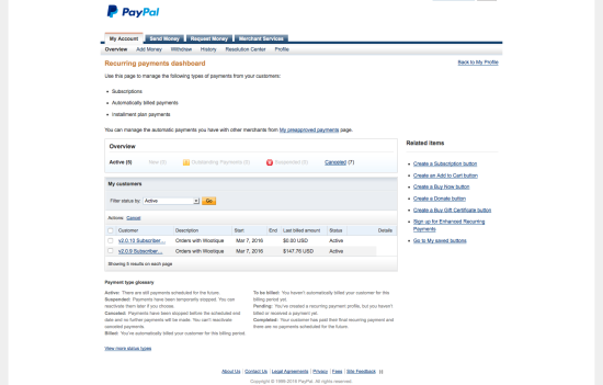 "PayPal Recurring Payments Dashboard: Subscription Created with 2.0.9 shows initial amount in ""Billed this Cycle"" column, Subscription created with 2.0.10 show no amount"