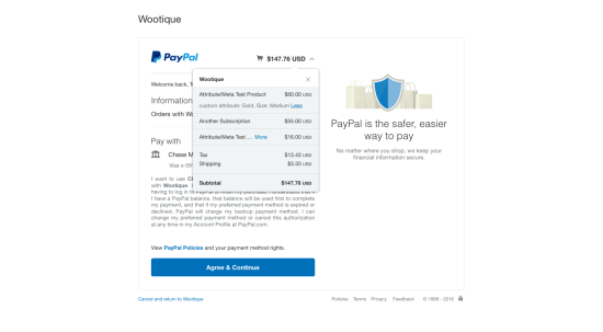 PayPal Checkout with Subscriptions 2.0.10: Transaction Details are Displayed