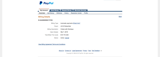 PayPal Billing Agreement Details with Subscriptions 2.0.9: Initial Amount Shown as Billed this Cycle