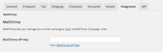 Enter your MailChimp API key here to get started.