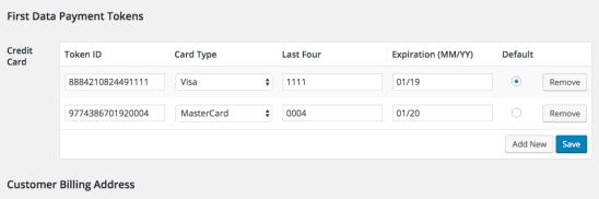 WooCommerce Payment Gateway Token Editor