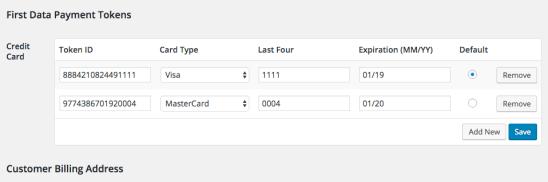 WooCommerce Payment Gateway Token Editor