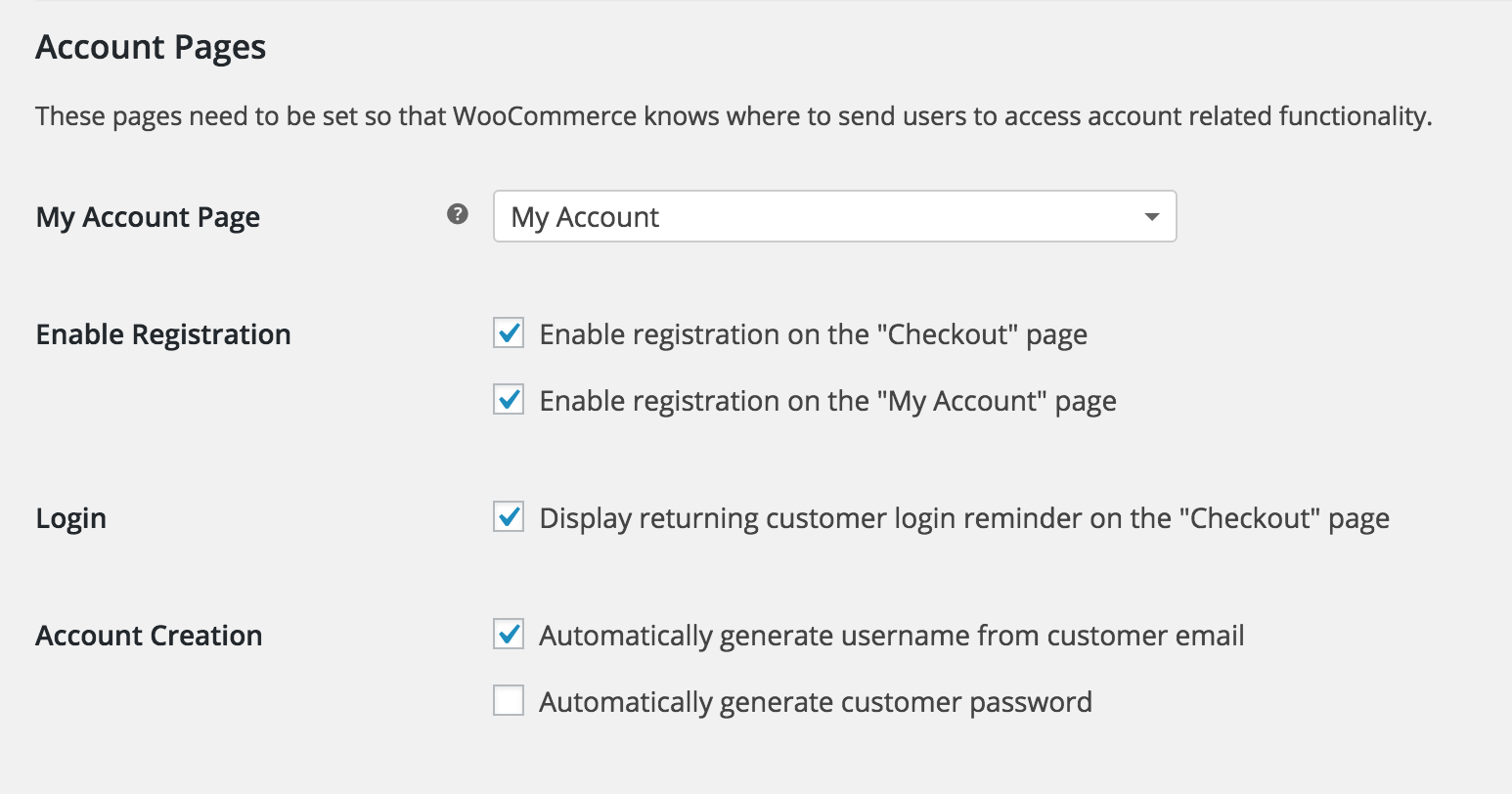 Shop customer account login/downloader - Account Registration