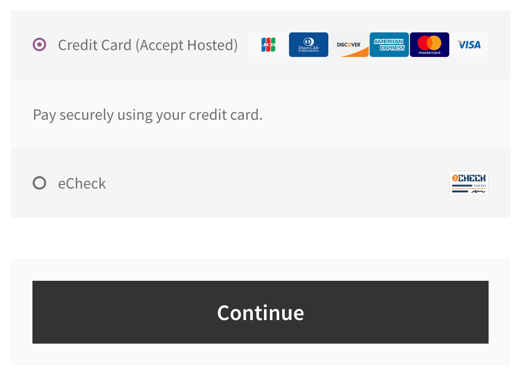 stores that accept echeck payments