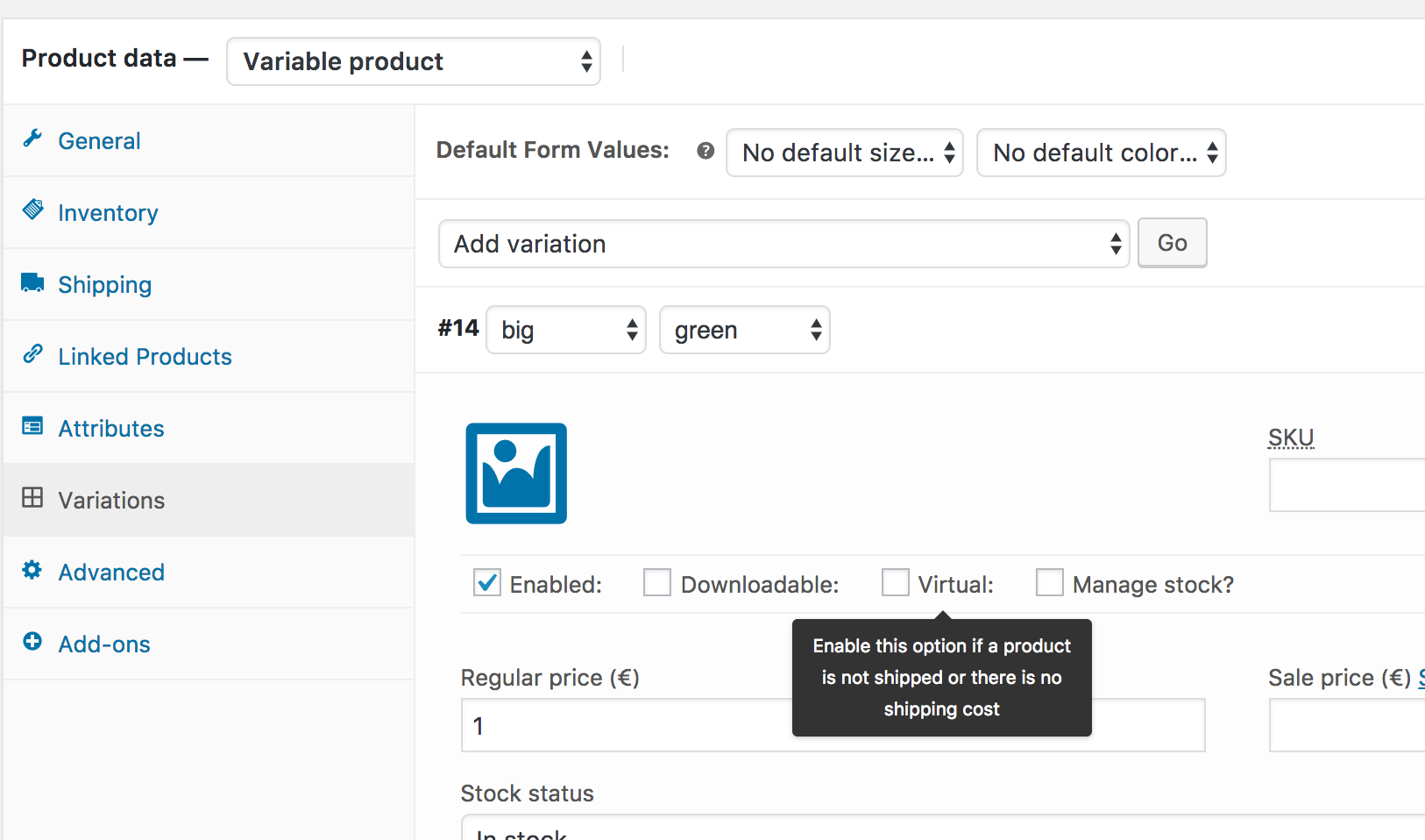 Adding and managing products woocommerce docs enabling this disables all shipping related fields such as shipping dimensions a virtual product will also not trigger the shipping calculator in cart and falaconquin