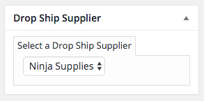 Select your drop ship supplier when adding or editing a product listing.