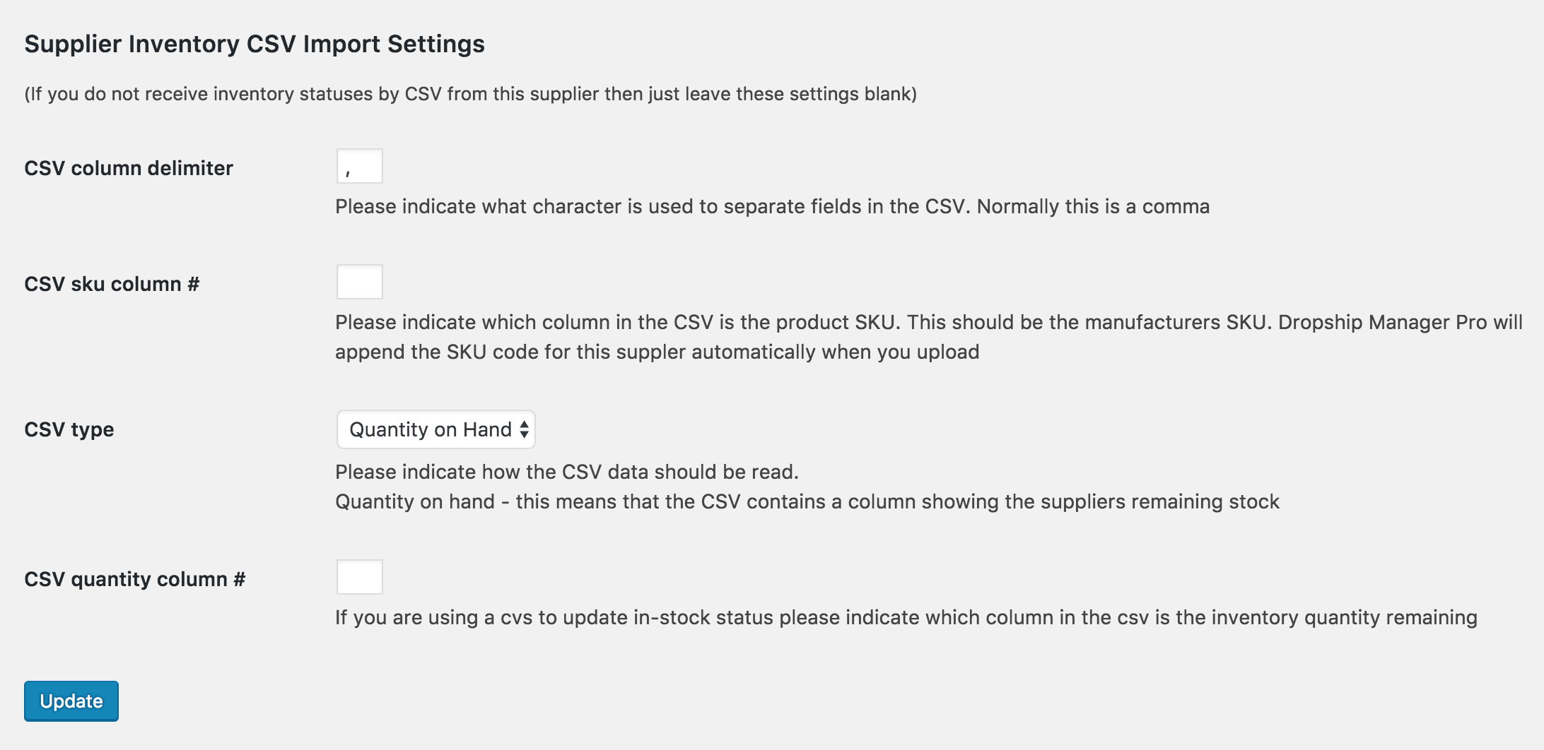 supplier-csv-settings