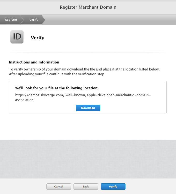 WooCommerce Apple Pay: Verify domain