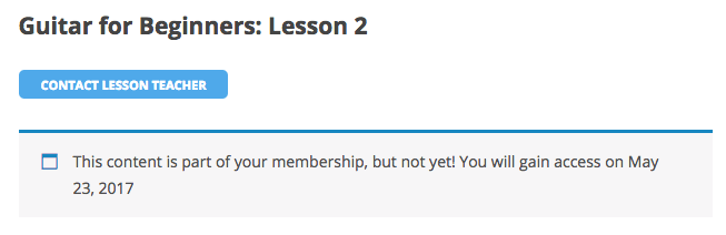 WooCommerce memberships lesson delayed