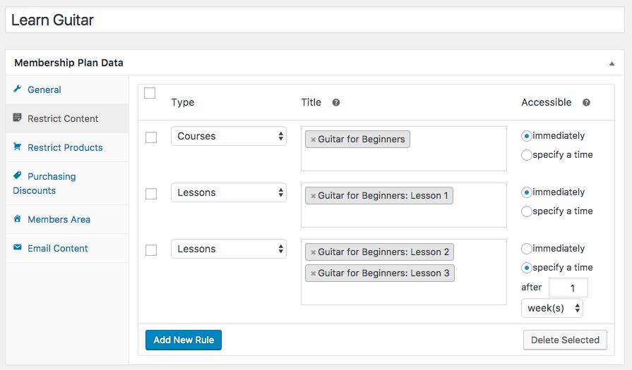 WooCommerce memberships: sensei Access plan