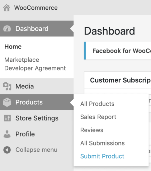 submit product in vendor dashboard